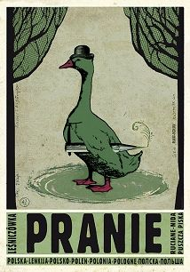 Ryszard Kaja - Pranie, polski plakat turystyczny