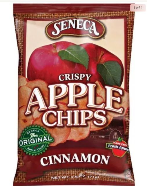 Seneca Cinnamon Apple Chips 2.5-Ounce Bags (Pack Of 2) New