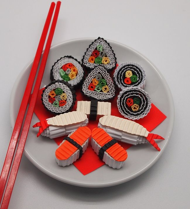 Sushi made from Kokoru - color corrugated.