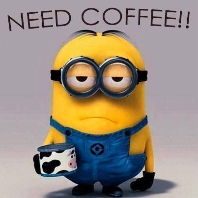 Minion needs COFFEE!