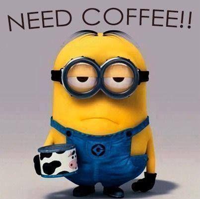 Minion needs COFFEE!