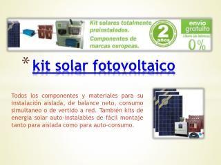 Visite este sitio http://www.cambioenergetico.com/111-kits-solares para obtener más información sobre kit solar. El kit Solar permite generar energía sin ...