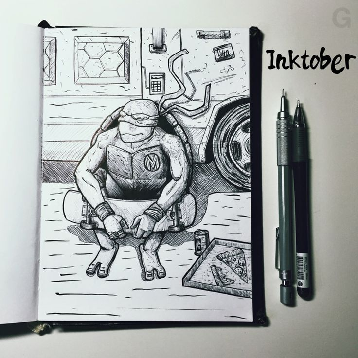 -30- #inktober #ink #illustration #inktober2015 #comics  #character #caricature #sketchbook #gutaart #sketch #topcreator #skate #mask #halloween #graffiti #IllustrationCat