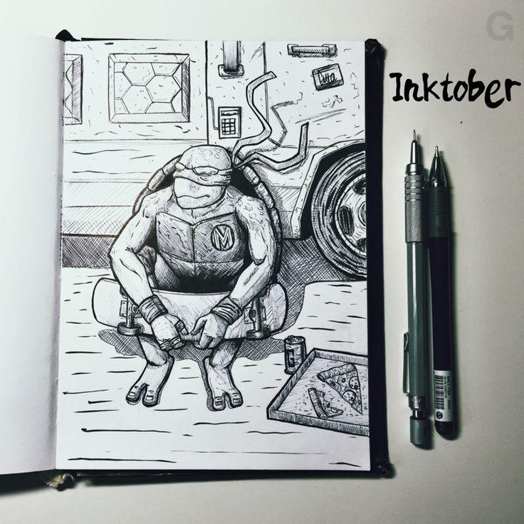 -30- #inktober #ink #illustration #inktober2015 #comics  #character #caricature #sketchbook #gutaart #sketch #topcreator #skate #mask #halloween #graffiti #IllustrationCat