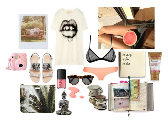 """""""summer nights"""" by sophie-lawrence ❤ liked on Polyvore featuring Suck, Mauro Grifoni, Triangl, Illesteva, Jack Wills, NARS Cosmetics, Zara, Murad, Fujifilm and Band of Outsiders"""