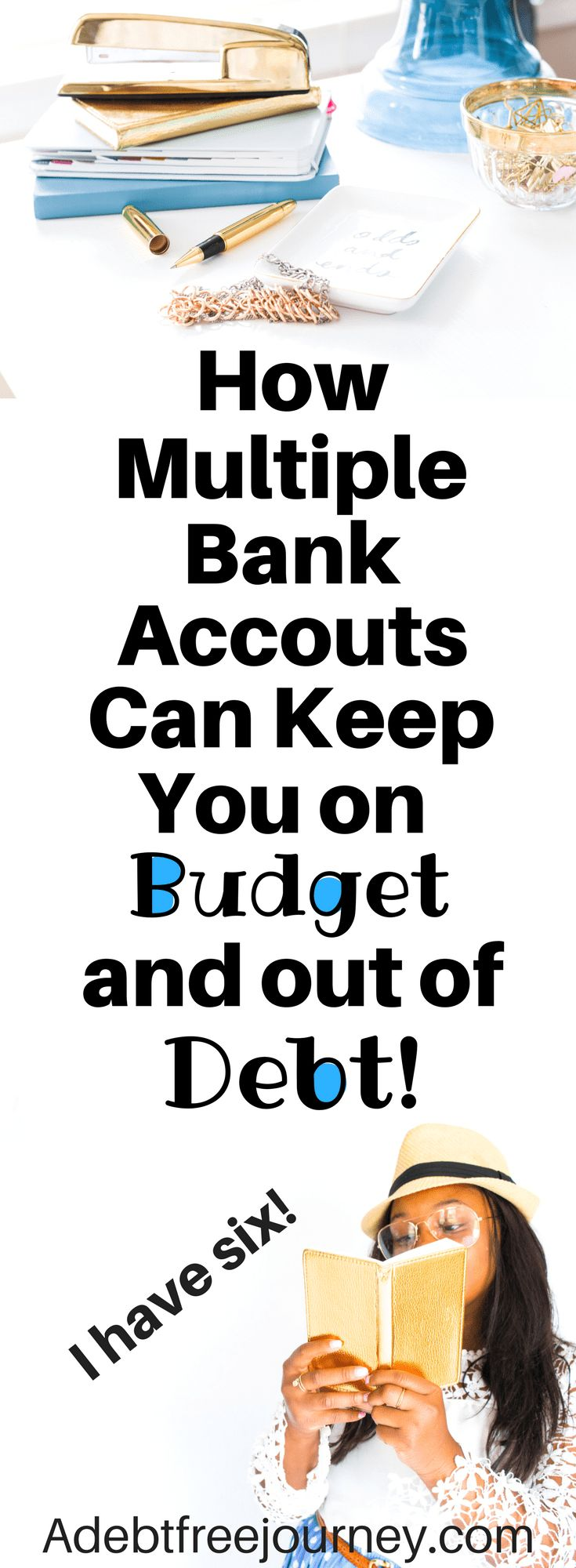 The thought of having multiple bank accounts may seem intimidating, but it makes managing your money so much easier! Find out how multiple bank accounts can help you stay on budget and out of debt. #multiplebankaccounts #stayonbudget #stayoutofdebt