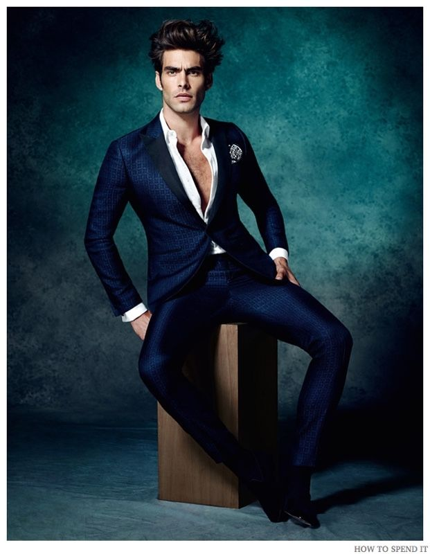 Jon Kortajarena Serves Up Formal Cocktail Suits for How to Spend It December 2014 Photo Shoot