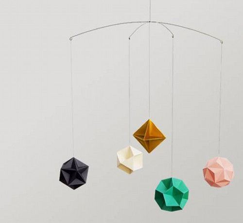Do you really HAVE to have a baby in order to buy a mobile?? Love this prism mobile by Clara von Zweigbergk | via Design Sponge