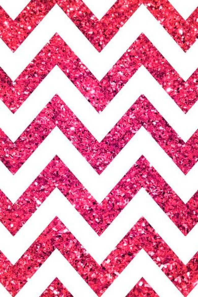 sparkly pink and white chevron iphone wallpaper iphone