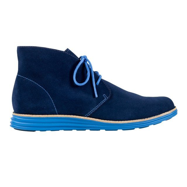 Blue suede shoes - LunarGrand Chukka by Cole Haan