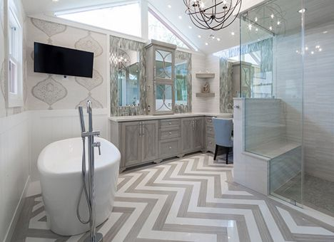 17 best images about bathroom inspiration on pinterest for Zig zag bathroom decor