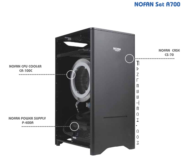 NoFan CS-70 / Fanless Silverstone FT03 Case