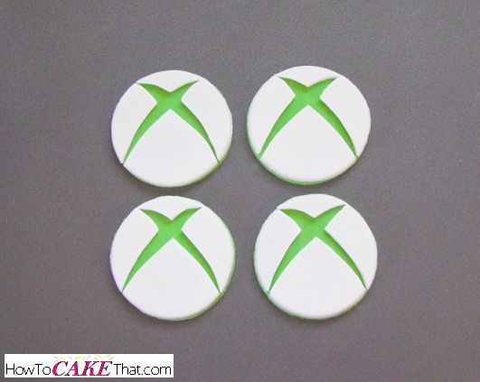 Easy tutorial on how to make edible green and white Xbox logo cupcake toppers!