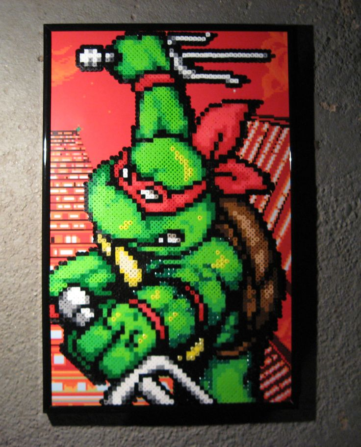 Perler TMNT (Raphael) by Dlugo1975 on deviantART