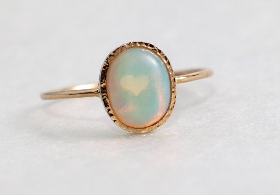 Opal Verlobungsring, October Birthstone