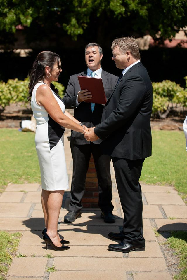 And here are the couple (Drew and Donna) getting to be married at the park across the road from our office - 169 Main North Rd, Nailsworth!   #vowmoment #wedding_vow #weddingvow