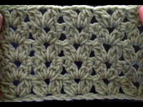 How to Crochet a Cluster V Stitch - Blanket