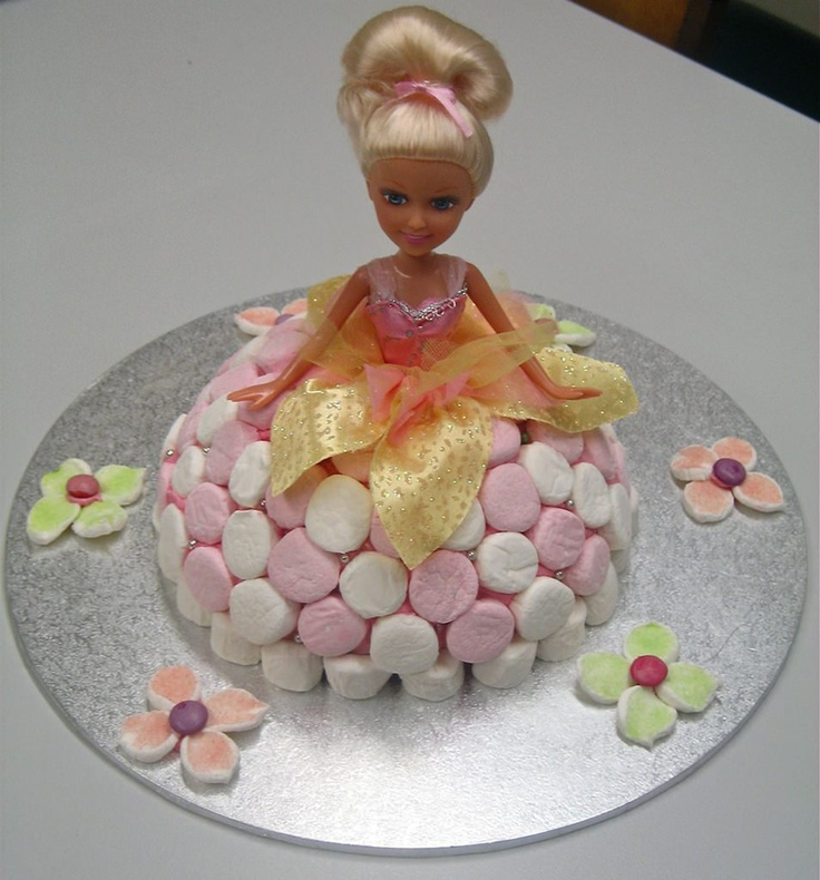 Doll Cake - Who can't remember admiring this cake while poring over the Women's Weekly cake book each year as a child? This cake is a must for every little princess! Available in either vanilla or chocolate cake and decorated with vienna cream icing and marshmallow skirt.