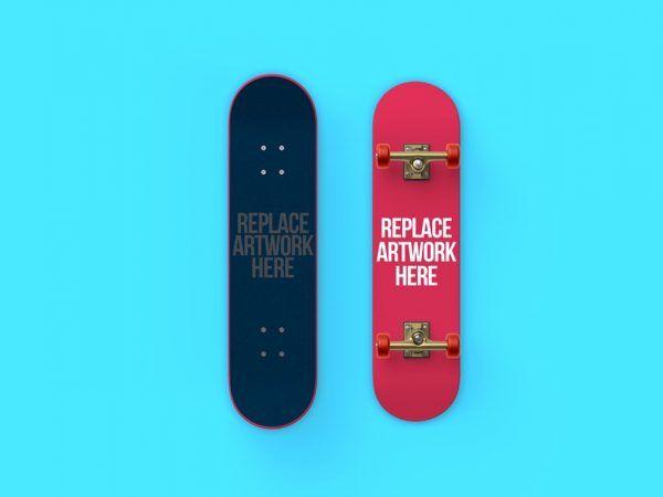 Front And Back Skateboard Mockup Mockup Free Mockup Skateboard