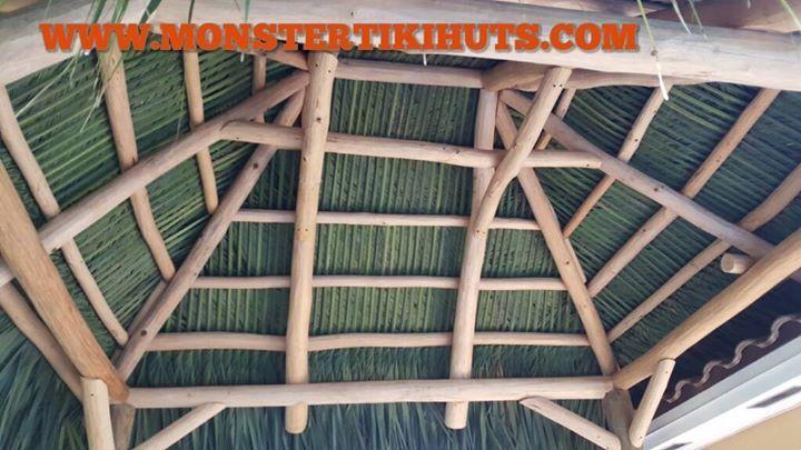 10x12 Tiki Hut Construction In Dania Beach Florida Monster Tiki Huts Is The Premier Monster Tiki Huts Dania Beach Florida Tiki Hut Backyard Structures