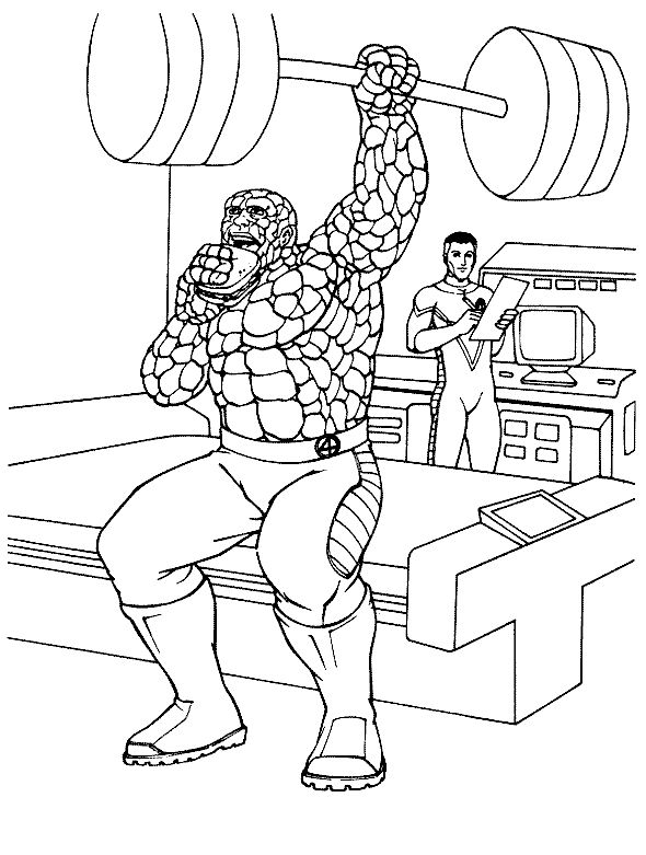Super hero fantastic four coloring pages are you like with super hero specially fantastic four this c oloring pages fantastic fou