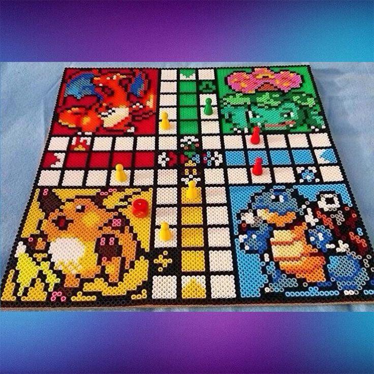 Pokemon ludo board game hama/nabbi beads by skapakultur