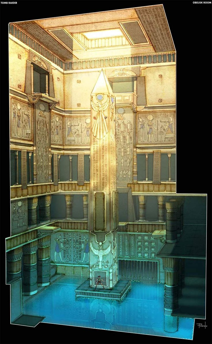 Egypt : Obelisk of Khamoon Environmental Concept Art -  Tomb Raider Anniversary (Windows/PS2/PS3/PSP/Xbox 360)