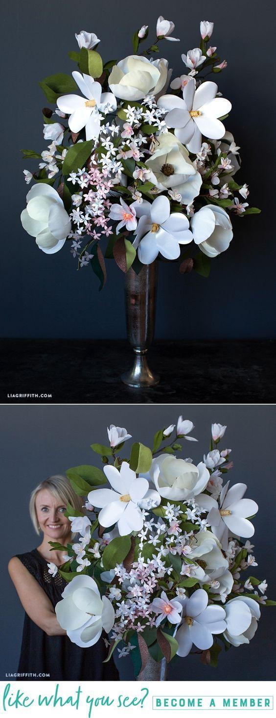 Southern Floral Bouquet - www.liagriffith.com #cricutmade #cricutmaker #diyinspiration #diyidea #diyideas #rsblooms #dsfloral #paperflower #paperflowers #crepepaperflowers #crepepaperrevival #madewithlia
