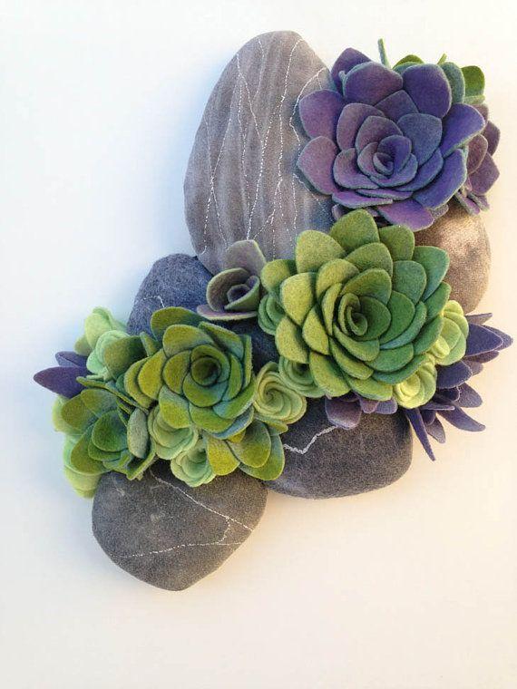 Image result for felt succulents