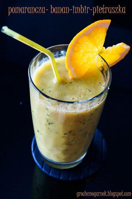 Grochem o Garnek: pomarańcza-banan-imbir-pietruszka