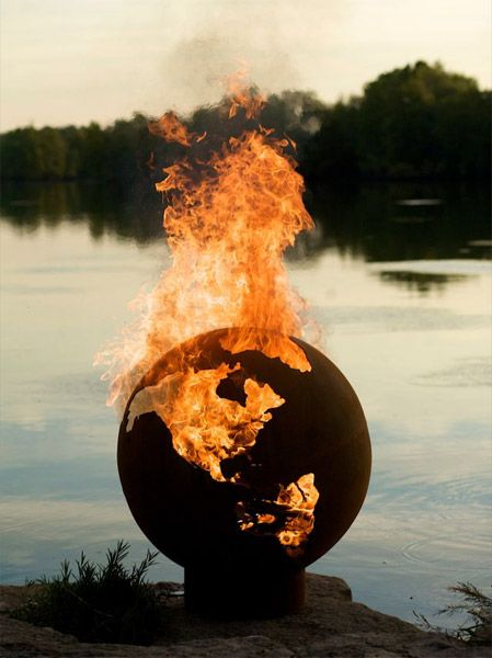 Planet Earth Fire PitFire Pits, Globes, Fireplaces, Rocks Fire Pit, Outdoor Fire Pit, Third Rocks, Firepit, Planets Earth, Backyards