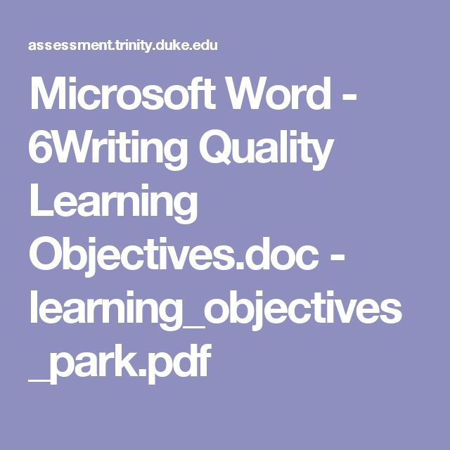 Microsoft Word - 6Writing Quality Learning Objectives.doc - learning_objectives_park.pdf
