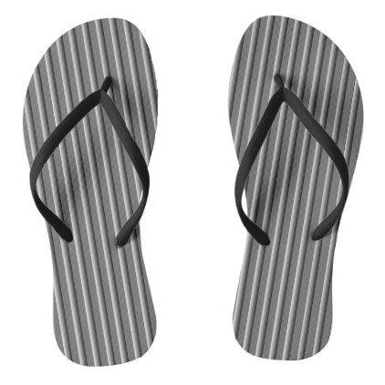 GREY FADE STRIPE FLIP-FLOP FLIP FLOPS - #customizable create your own personalize diy
