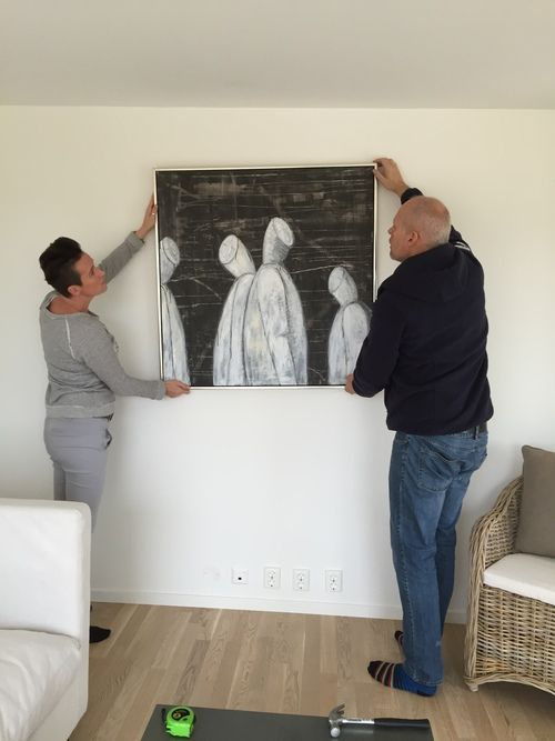 Me together with District Manager Søren H. Johansen getting the monks up on the wall.