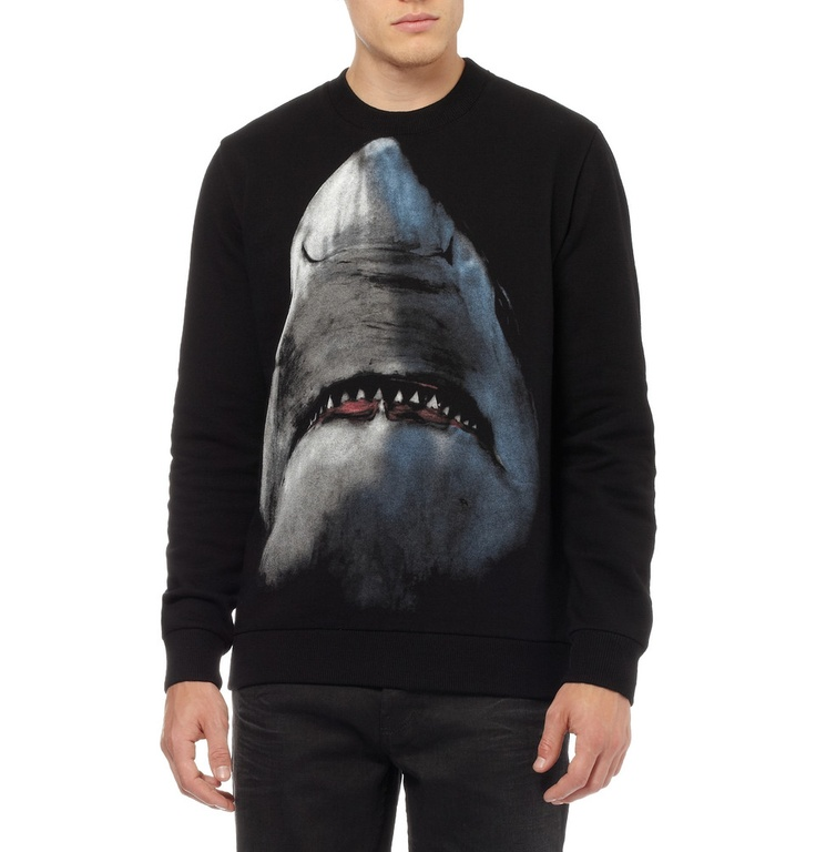 Givenchy Shark-print Cotton Sweatshirt (a favourite repin of VIP Fashion Australia www.vipfashionaustralia.com - Specialising in unique fashion, exclusive fashion, online shopping sites for clothes, online shopping of clothes, international clothing store, international clothes shop, cute dresses for cheap, trendy clothing stores, luxury purses )