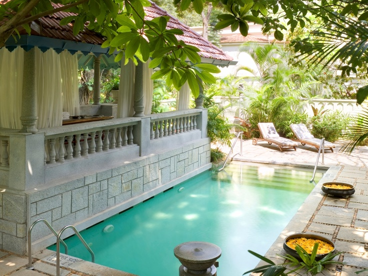 The Taj West End Bangalore Tata Presidential Suite Is Designed With A Plush Provincial Cottage Estate Design And Has Its Own Private Plunge Pool