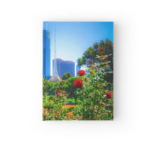 Red Roses in the Botanical Gardens - Melbourne, Victoria Hardcover Journal