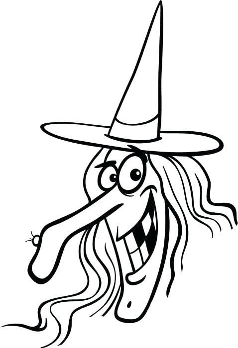 Witch Face Template Printable. coloring pages for