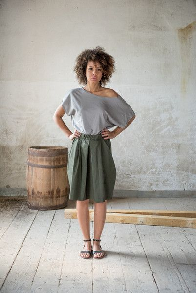 Spódnica Military Trapeze - KOKOworld - Spódnice ołówkowe