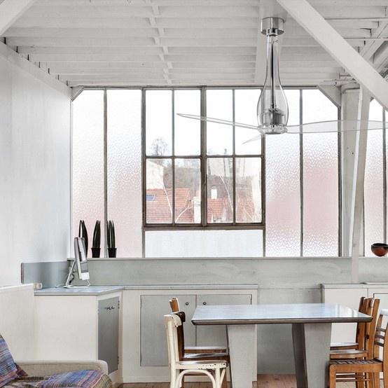 Ventilador de techo Vio en cromo con palas transparentes | PVP. 636,54  Dto. 30% Precio de Venta: 445,58 €
