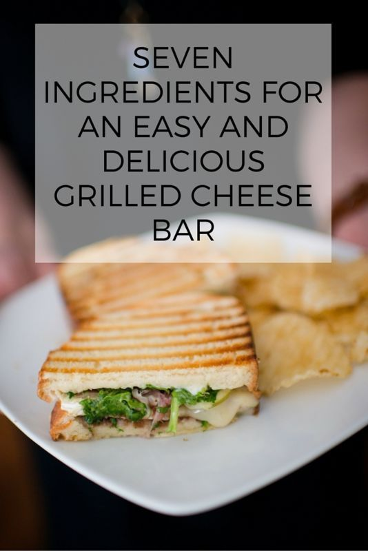 Seven Easy Ingredients for an Awesome Grilled Cheese Bar | An idea to add to your holiday party board!