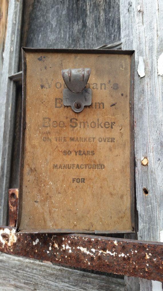 Bee smoker vintage rustic farm or cabin decor