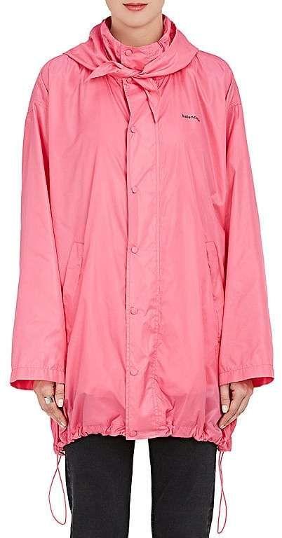 Balenciaga Women's Tech-Fabric Scarf-Collar Windbreaker