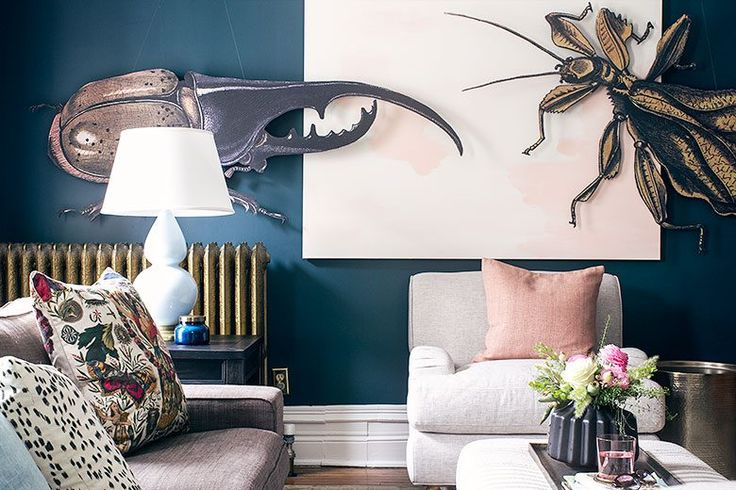 DIY Huge Insect Art | Making it Lovely's One Room Challenge Den - These are amazing! Similar feel to how I wanted the nursery.
