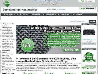 http://gummimatten-kaufhaus.de/ Gummimatten-Meterware, Spielplatz-Fallschutzmatten, Stallmatten und Fußmatten versandkostenfrei im Gummi-Matten-Shop zu günstigen Preisen kaufen.