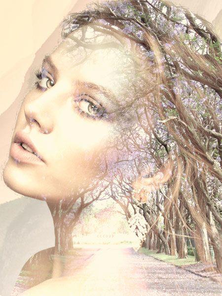Эффект двойной экспозиции в Photoshop Рождественская Ольга.