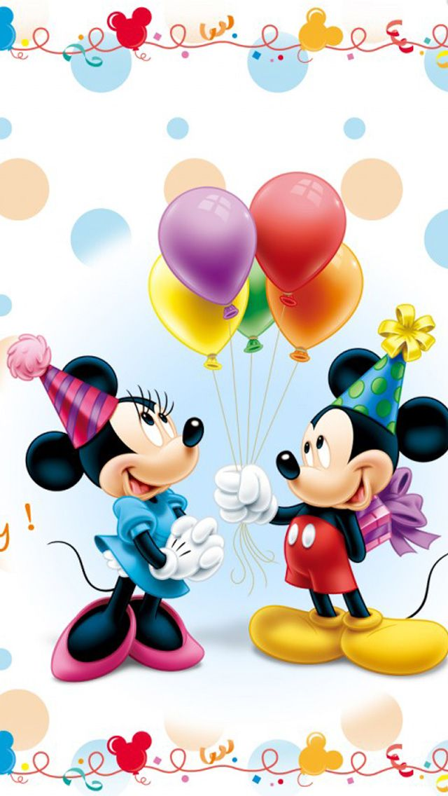 Vinil Decorativo Disney - Mickey and Minnie Birthday. Consulte Precios.