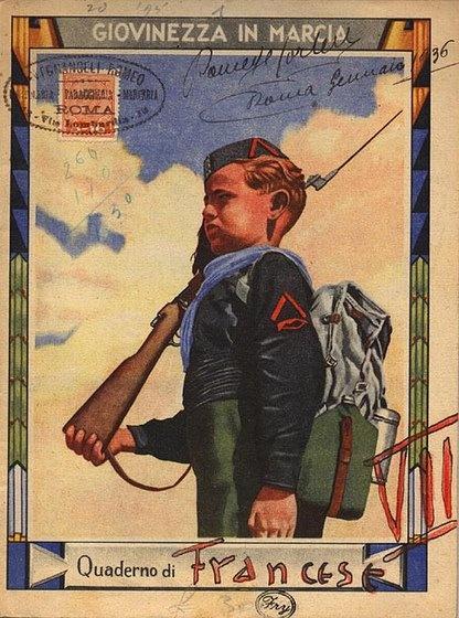 Italian Fascist Youth postcard