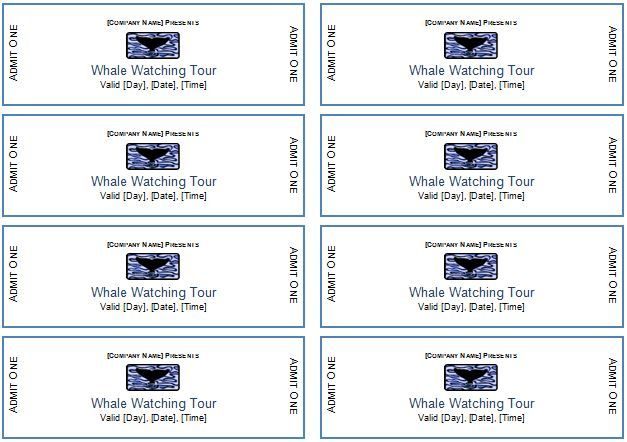 Event Tickets DOWNLOAD at http\/\/wwwbizworksheets\/event - event ticket template word