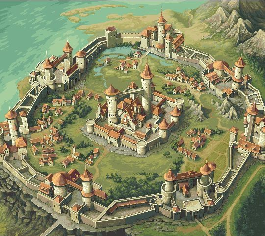 Idonka. A mostly militarized city with small farm lands inside the protective wall. The city appears medieval in design and architecture. But the technology of it rests under the ground. Stream and and heat in the stone of the caverns are us